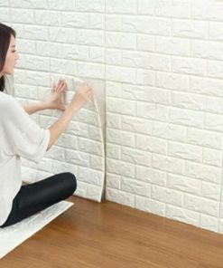 Papel Tapiz Panel 3d vinilo color blanco uso en pared
