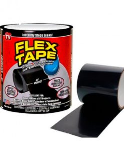 Cinta Impermeable Flex Tape Color Negro Multirebajas