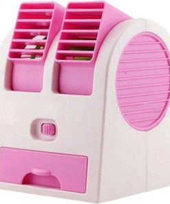 Mini Ventilador Fan Aire Acondicionado Color Rosado